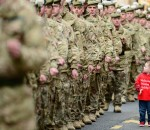 Scottish Soldiers Parade After Afghanistan Tour