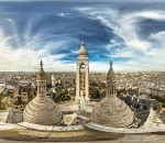 Elevated Panorama from Sacre Coeur Dome, on July 15, 2015 in Paris-18E-Arrondissement, France. (Photo by zeljko soletic/360cities.net via Getty Images)