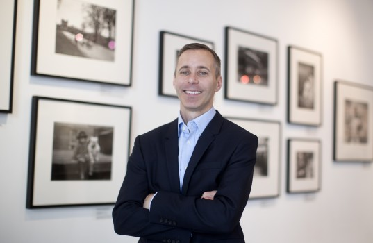 LONDON, ENGLAND - JUNE 30: Andrew Hamilton, Getty Images Senior Vice President, Data and Insights, poses for a photograph at the Getty Images gallery on June 30, 2016 in London, England. (Photo by Carl Court/Getty Images)