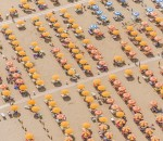 Aerial View of a a beach resort